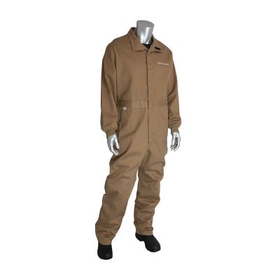 AR/FR Certified Coverall With Vented Back (Tan)