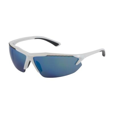 Blizzard Semi-Rimless Safety Glasses (Blue Mirror Lens)