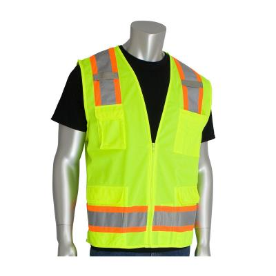 Class 2 Two-Tone Eleven Pocket Surveyor's Vest With Mesh Back