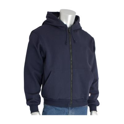 FR Hooded Sweatshirt With Zip Front